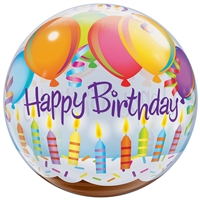 22 inch BUBBLES Birthday Balloons and Candles