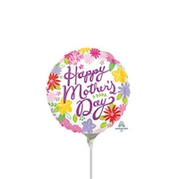 4 inch Cheerful Mother's Day Foil Balloon