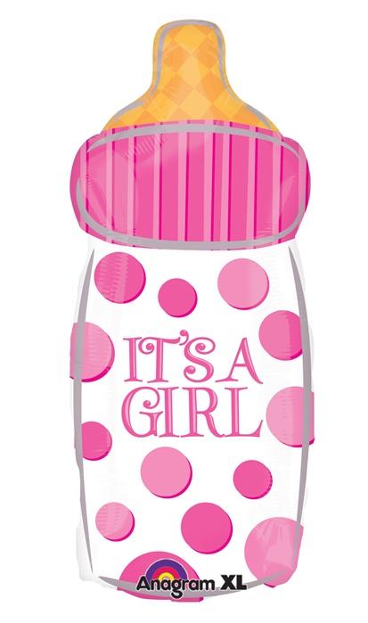 23 inch hx it s a girl baby bottle