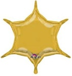 22 inch Gold 6 Point Star