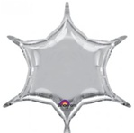22 inch Silver 6 Point Star