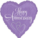 18 inch VLP Damask Happy Anniversary