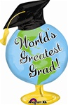 32 inch Greatest Grad Globe Foil Balloon