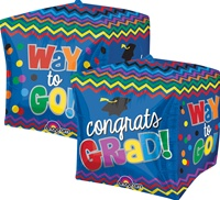 16 inch Graduation Celebration CUBEZ Foil Balloon