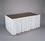 Table Skirt 29in x 14ft WHITE, Price Per EACH