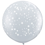 3ft STARS A-Round DIAMOND CLEAR
