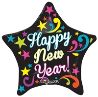 21 inch NEON Bright New Year balloon