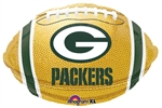 18 inch Green Bay PACKERS NFL Football Foil Balloon