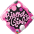 18 inch Happy Birthday Girl with Pink & Black foil balloon