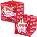 16 inch Love Hugs and Kisses Cubez