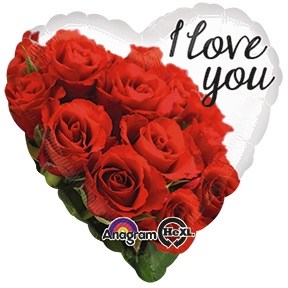 18 inch I Love You Rose Bouquet Heart Shaped