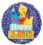 18in Sesame Street Happy Birthday Confetti