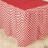 Table Skirt 29in x 14ft RED and WHITE CHECK, Price Per EACH