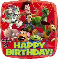 18 inch Disney Toy Story Happy Birthday Balloon