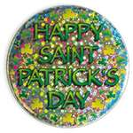 3.5 inch Happy St. Patrick's Day Lazer Etched Button