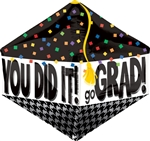 You Did It Grad Cap Anglez Foil Balloon