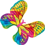 31 inch Fancy Butterfly Yellow Foil Balloon