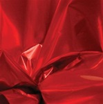 30in x 50ft Cellophane Roll RED Metallized