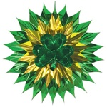 15 inch Shamrock Fan Burst