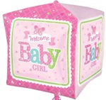 16 inch Welcome BABY Girl Butterfly
