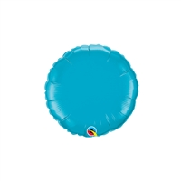 9 inch TURQUOISE Round Qualatex Foil Balloon