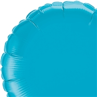Qualatex 36 inch TURQUOISE round shaped foil balloon