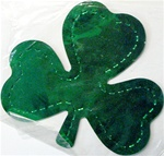 4.5in Metallic Shamrock Silhouettes, Price Per DOZEN