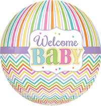 Welcome Baby Brights Orbz Balloon