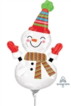 Smiley Snowman Foil Balloon