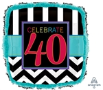 40th Birthday Celebration Balloon