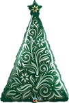 Damask Christmas Tree Balloon