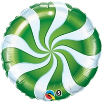 18 inch GREEN Candy Swirl