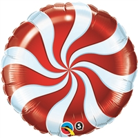 18 inch RED Candy Swirl