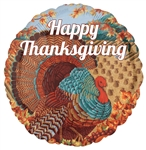 18 inch VLP Happy Thanksgiving Turkey