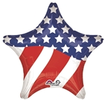 28 inch American Flag Star Foil Balloon