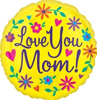 18 inch VLP Love You Mom Yellow