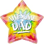 Awesome Dad Star Balloon