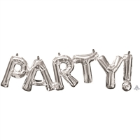 20 inch x 9 inch - PARTY - Phrase SILVER