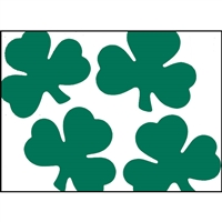 5in Tissue Shamrocks