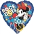18 inch Minnie Rock the Dots foil balloon