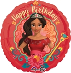 17 inch HX Disney Elena of Avalor Happy Birthday Foil Balloon