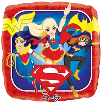 18 inch DC Super Hero Girls Square Foil Balloon