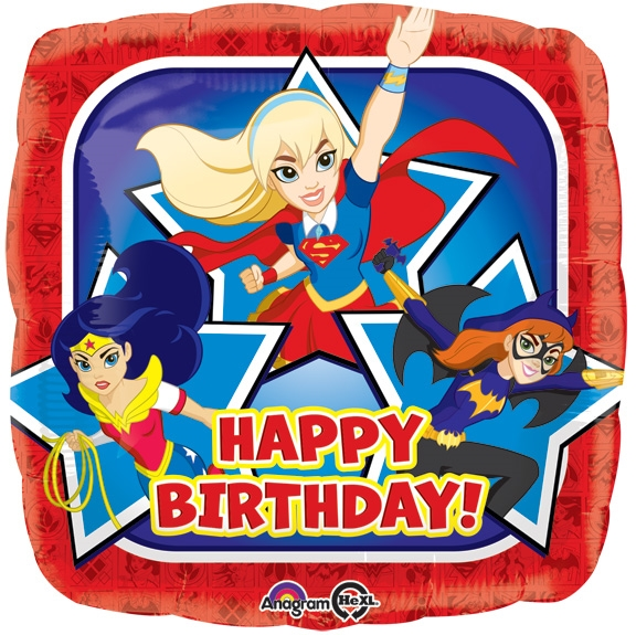 18 Inch Dc Super Hero Girls Happy Birthday Price Per Each Minimum Order 5
