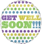 Get Well Soon Retro Dots Balloon