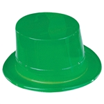 Green Plastic Top Hats