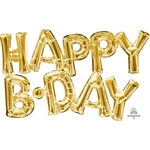HAPPY B•DAY Phrase Foil Balloon