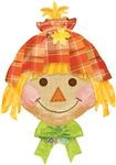 24 inch Happy Scarecrow Foil Balloon