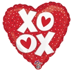 18in OX Hearts Foil Balloon