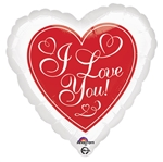 18in Red Hot Love Foil Balloon
