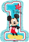 28 inch Disney Mickey 1st Birthday Balloon